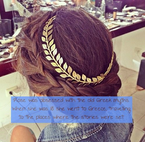 It's not and outfit but I love the hairstyle.