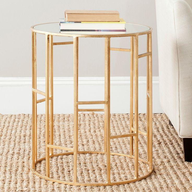 Beistelltisch Doreen - Eisen Gold/Spiegelglas