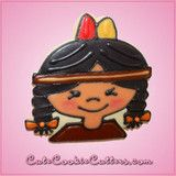 Pink Istas Indian Girl Cookie Cutter | Cheap Cookie Cutters is the Cookie Cutter Leader