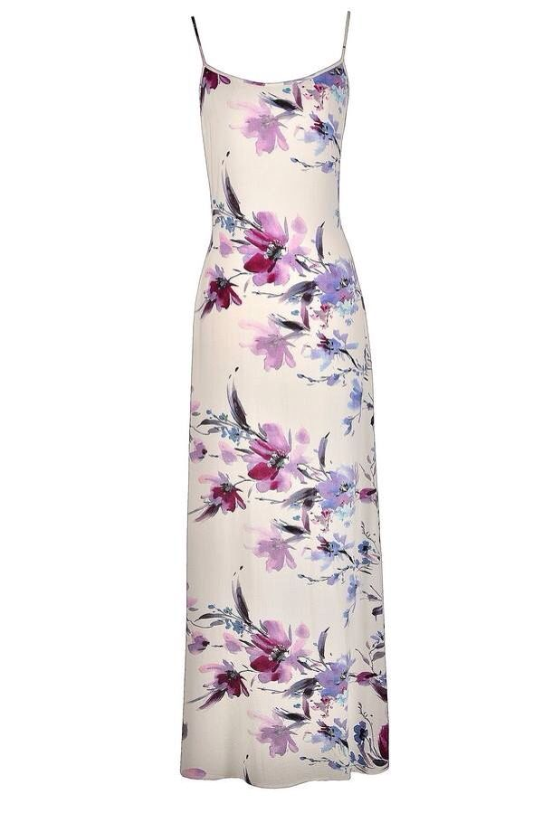 Long floral dress with spaghetti straps