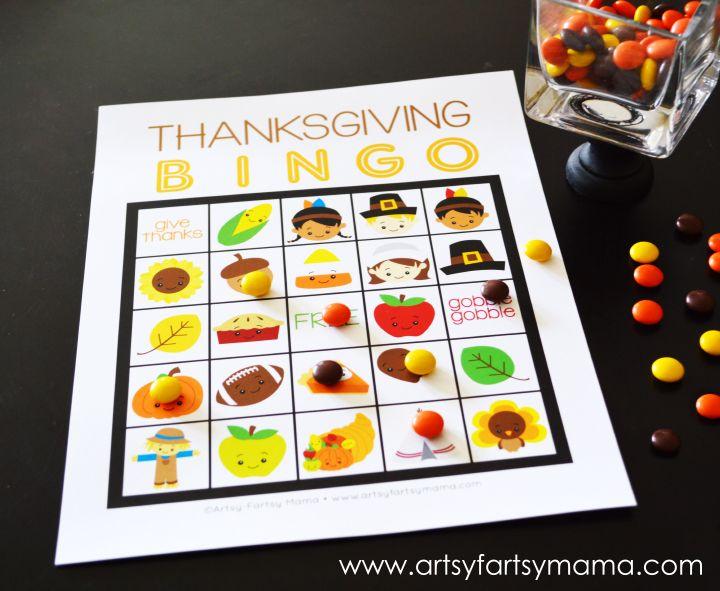 Thanksgiving Bingo - artsy-fartsy mama