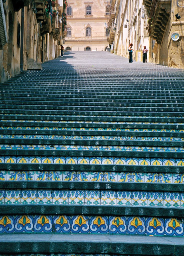 The town of Caltagirone is known for its spectacular ceramic work, especially these tiles on the steps of the Scalinata di Santa Maria del Monte