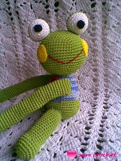 Frog curtain Tie Back ~ Zan Crochet