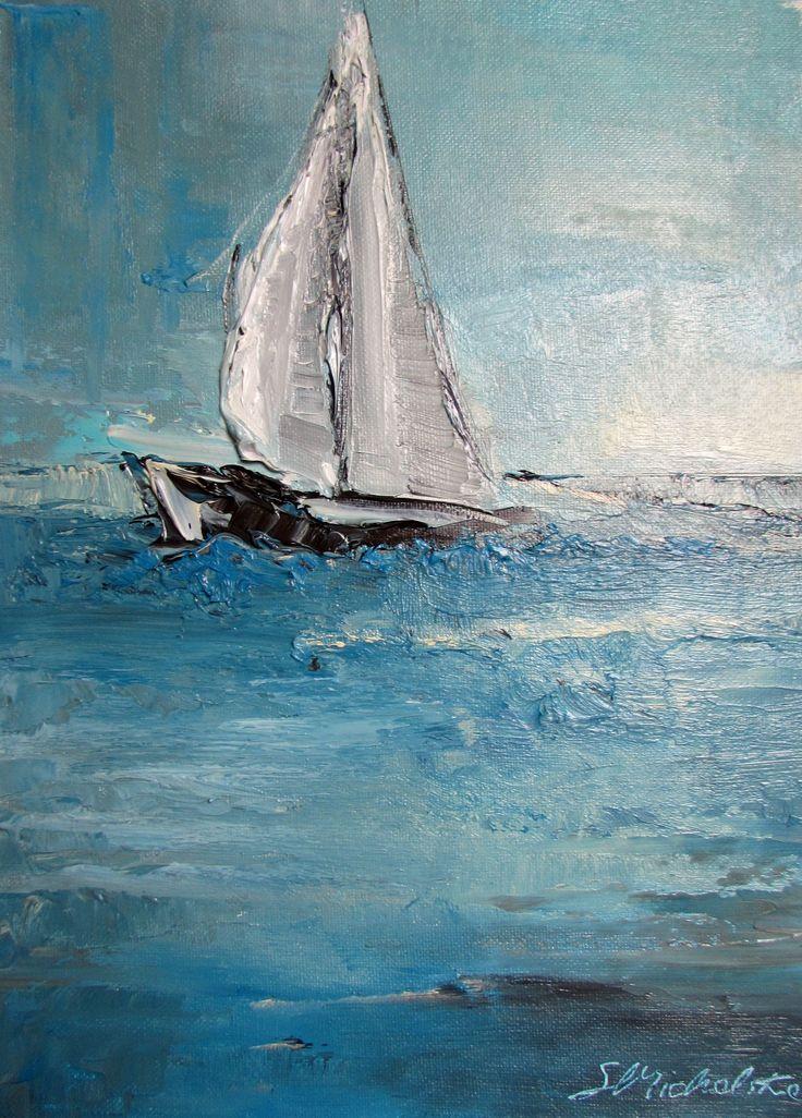 Obrazy olejne, malarstwo olejne, marynistyka by Sylwia Michalska