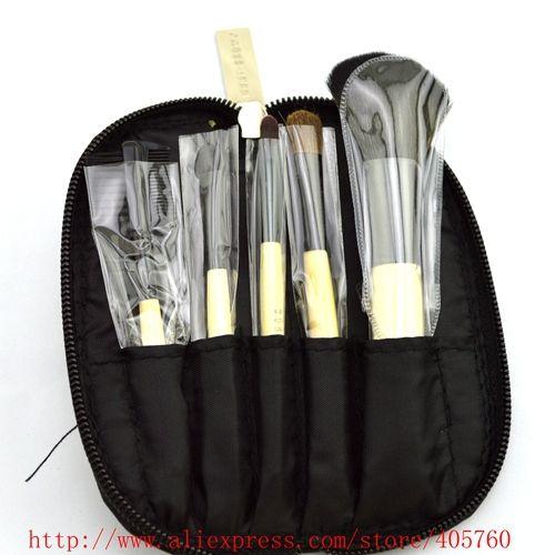 По продажам личная гигиена щетки комплект мешок 5 элементы щетки для макияжа косметический инструмент смесовой кисть