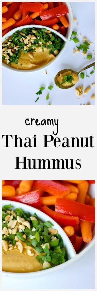 Thai Peanut Hummus Dip - perfect appetizer recipe
