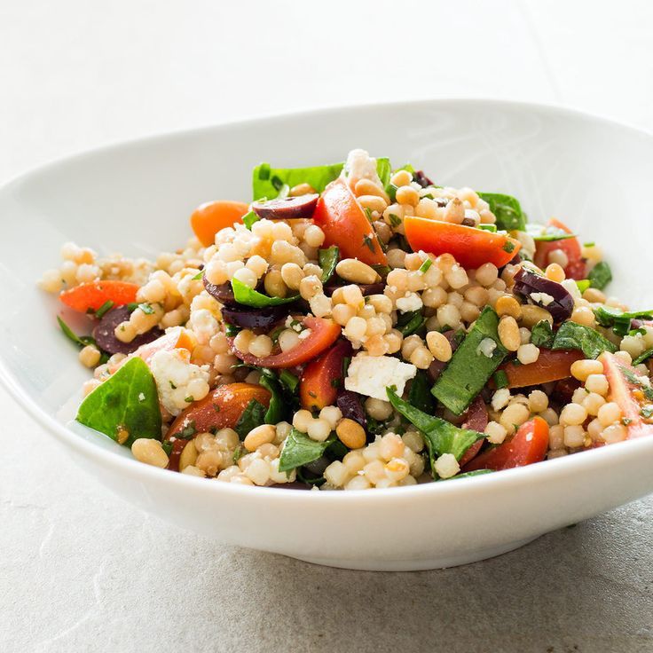 Israeli Couscous with Tomatoes, Olives, and Ricotta Salata | Salad Bar ...