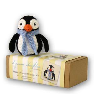 Crochet Penguin Kit.  Great kids gift idea or for crochet beginners. Recommended for ages 8+