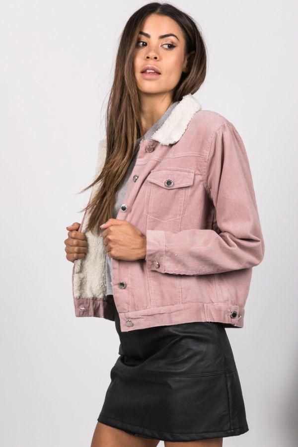 Zara Corduroy Jacket Pink - WOMENS JUST LANDED - JUST LANDED