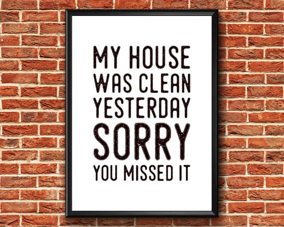 My House Was Clean Yesterday Sorry You Missed It  Funny