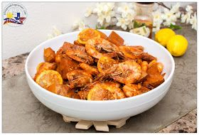 """Copycat Boiling Crab Recipe-- Shrimps in """"The Whole Sha-Bang"""" Sauce: great recipe but add a tablespoon of brown sugar and make sure the butter is unsalted"""