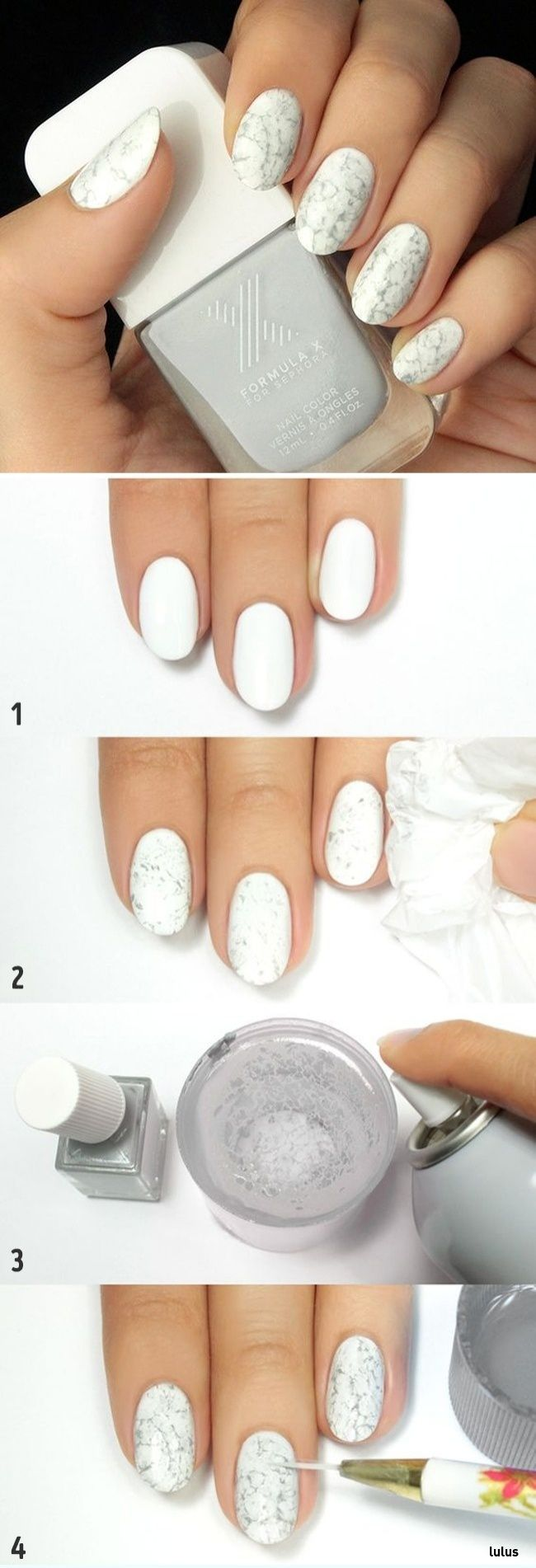marble | 10 perfect nail designs to wear in the office