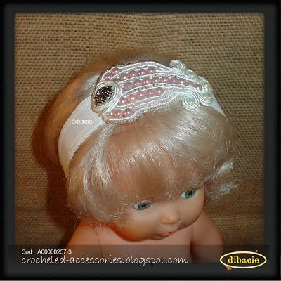 another baby headband with a soutache element