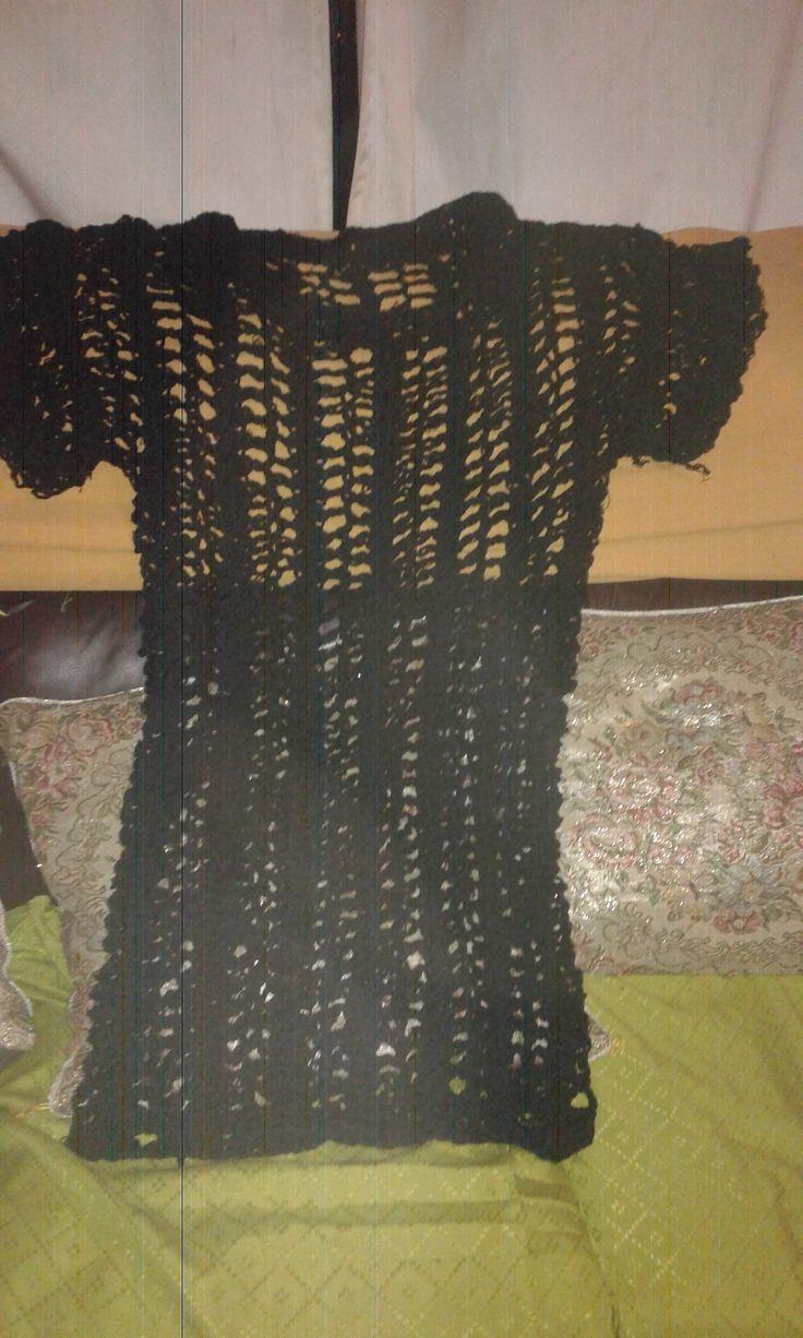 vestido hecho en horquilla