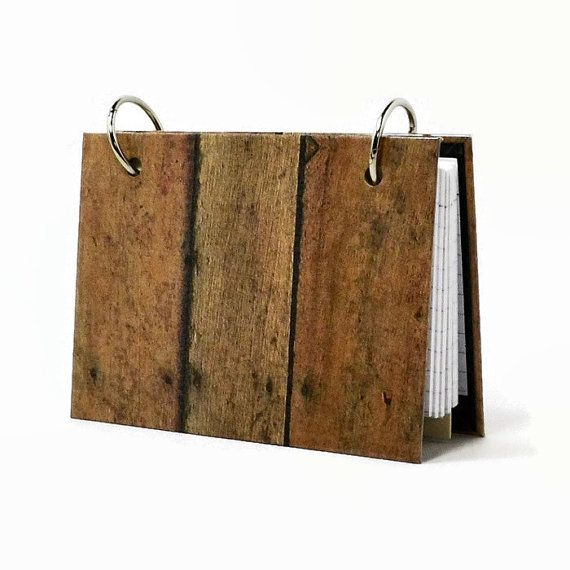 3 x 5 #indexcard binder #rustic wood fence, a guys #journal by ArtBySunfire http://etsy.me/1FAChHL  via @Etsy