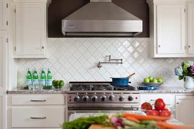 White Diamond Set Tile Backsplash Flooring Tiling Ideas Pinterest Kitchen Backsplash