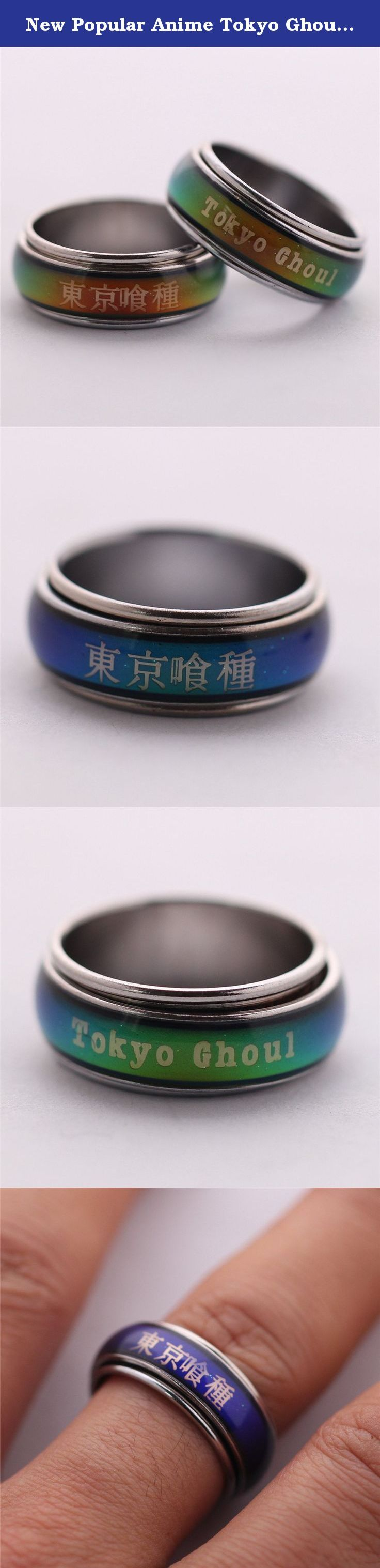 New Popular Anime Tokyo Ghoul Thermostat Discolored Ring Free Chain. Don't put it in water! You can get a free chain!.