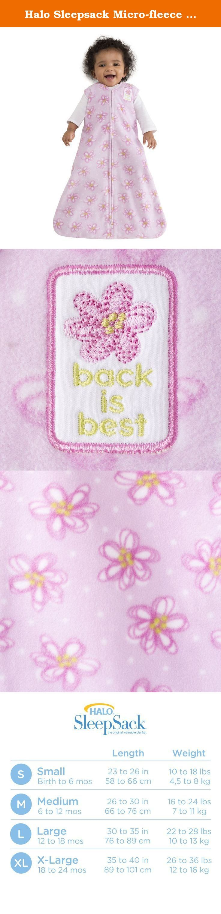 Halo Sleepsack Micro-fleece Wearable Blanket, Pink Swirly Flowers, Small. HALO SleepSack wearable blanket: The Safer Way to Sleep The HALO SleepSack wearable blanket replaces loose blankets in the crib that can cover your baby s face and interfere with breathing. In addition to helping your baby sleep safer, the HALO SleepSack wearable blanket helps your baby sleep better, too. It is a warm cuddly blanket they cannot kick off; ensuring baby sleeps soundly throughout the night. Used in...