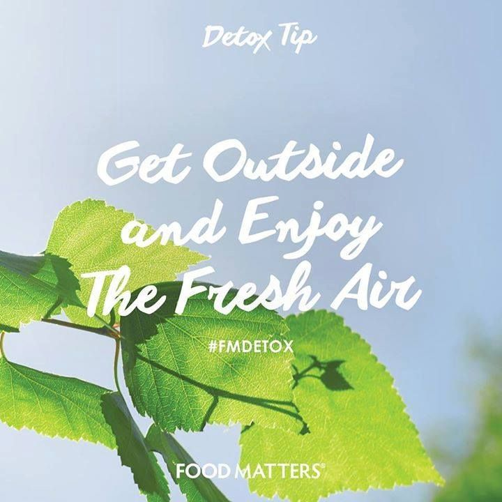 Did you get outside today? Fresh air and the sunshine support the cleansing and oxygenation of cells and tissues and help revitalize our bodies. www.foodmatters.tv