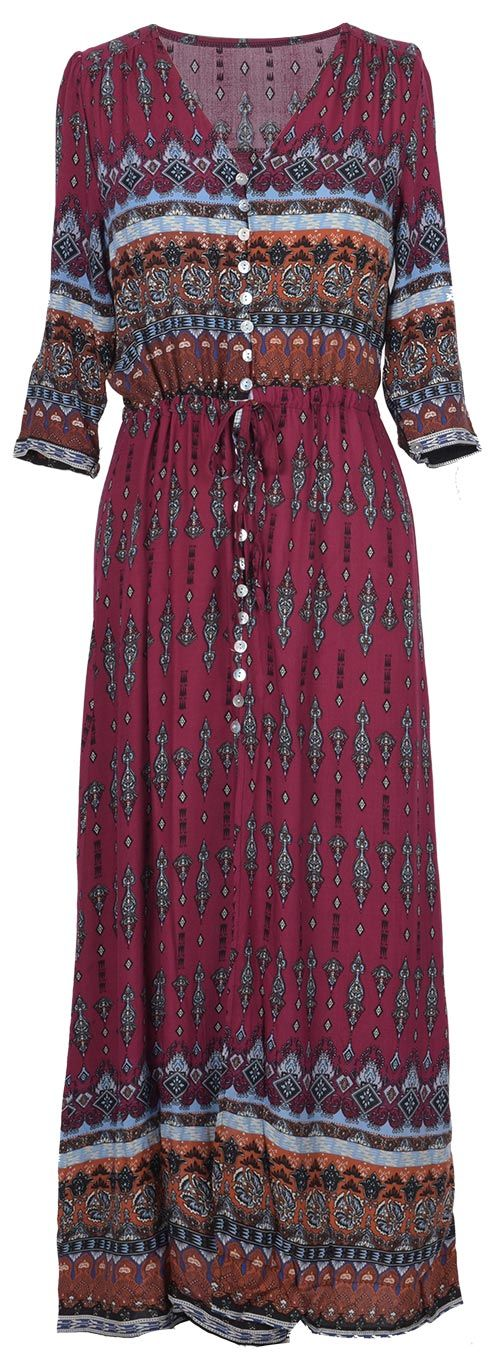 We love the vintage/romantic feel of this Boho dress! You gonna maximize your look with this button detailed V-neck maxi dress! It is detailed with drawstring at waist&3/4 sleeve. Make it your at Cupshe.com