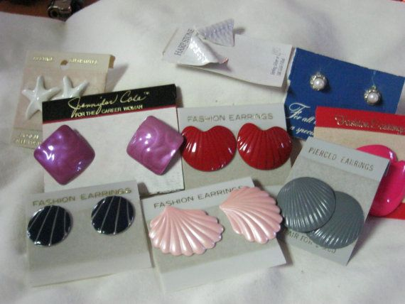 80's Earrings.  My mom used to wear ugly stuff like this with her matching banana clips