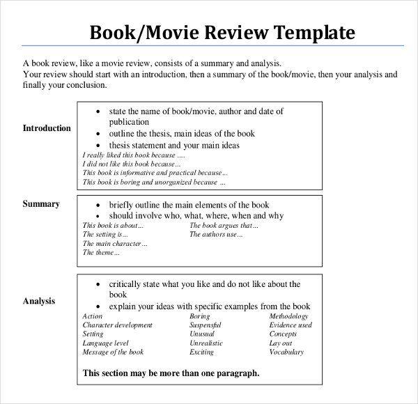 Book Writing Template Check More At Http Nationalgriefawarenessday Com 12602 Film Analysi Essays Essay