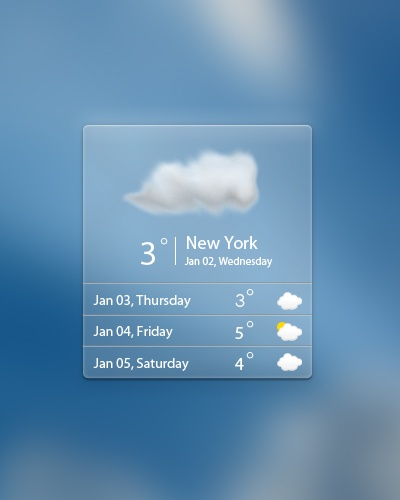 #Download sleek weather widget #PSD $1