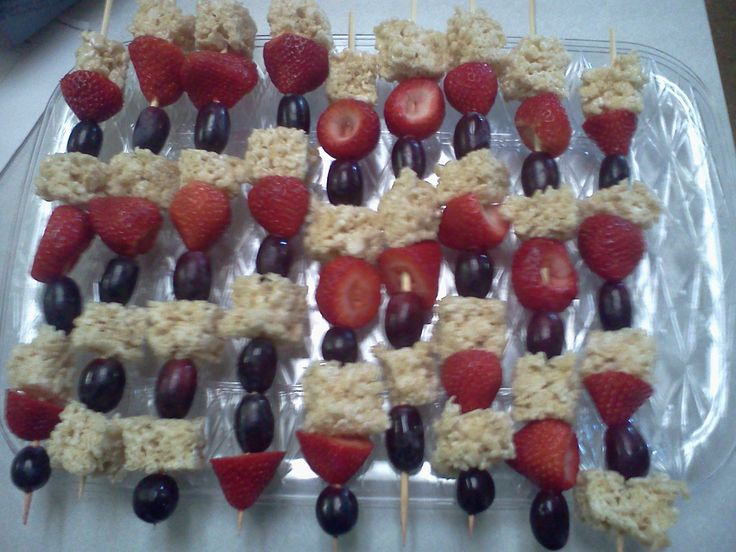 Vacation Bible school fruit-kebabs