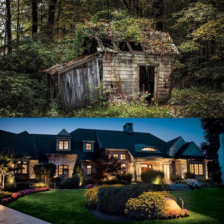 Before and After! This is why You Should Consider adding Landscape Lighting to Your Home...  Learn more at http://ift.tt/2lqiJ8m Learn more at http://ift.tt/2lqiJ8m