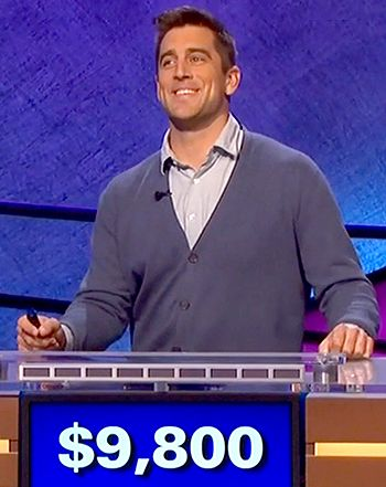 Aaron Rodgers Charms, Completely Dominates Celebrity Jeopardy: Watch - Us Weekly