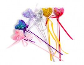 Puffy Heart Sequin Wand AUD$9.95