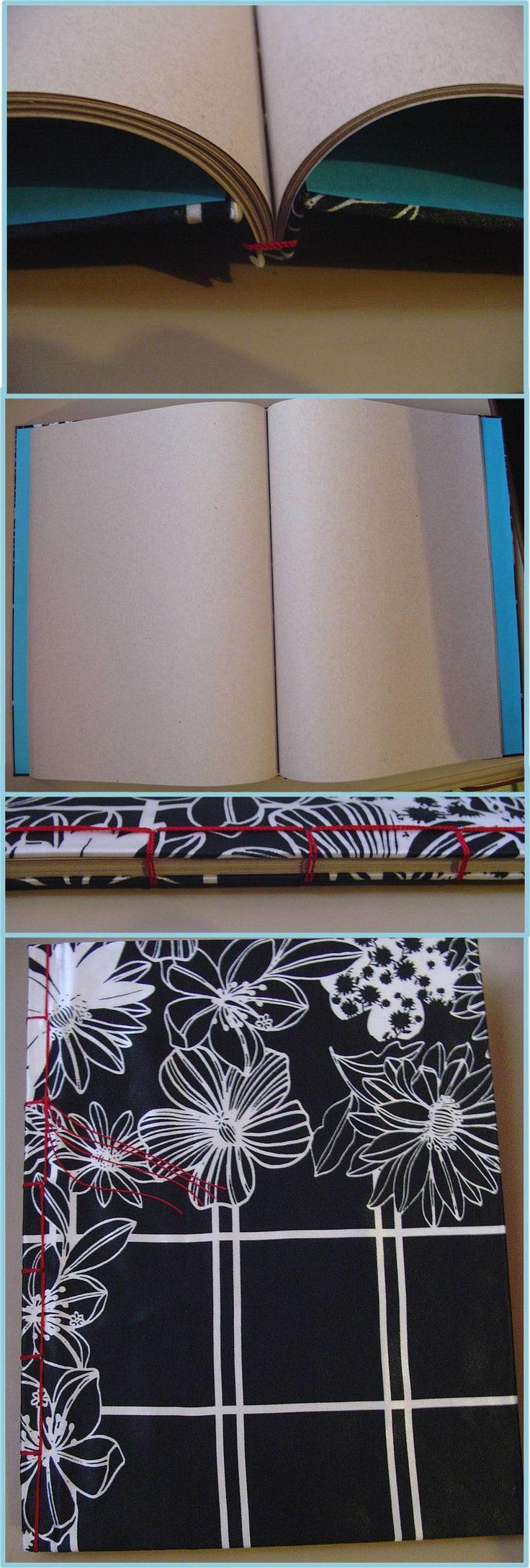 Cuaderno hecho a mano, cosido japonés, hojas recicladas, pastas cubiertas de tela.    ***     Book binding, crafts, stab binding, notebook, encuadernado, encuadernación, cuaderno