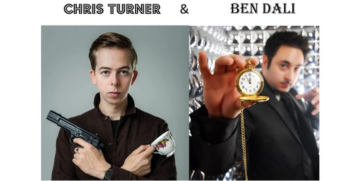 Sunday 23rd July. Chris Turner and Ben Dali Edinburgh Fringe Show Preview. Two of Edinburgh Fringe's most beloved and contrasting performers unite for an unforgettable preview show. Buy tickets at https://www.eventbrite.co.uk/e/chris-turner-ben-dali-ed-fringe-preview-comedy-rap-hypnosis-tickets-33466346744. £5 (plus 90p booking) in advance, £7 on the door.