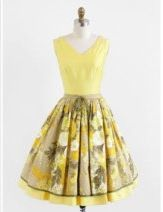 Adorable 50's style yellow and floral dress