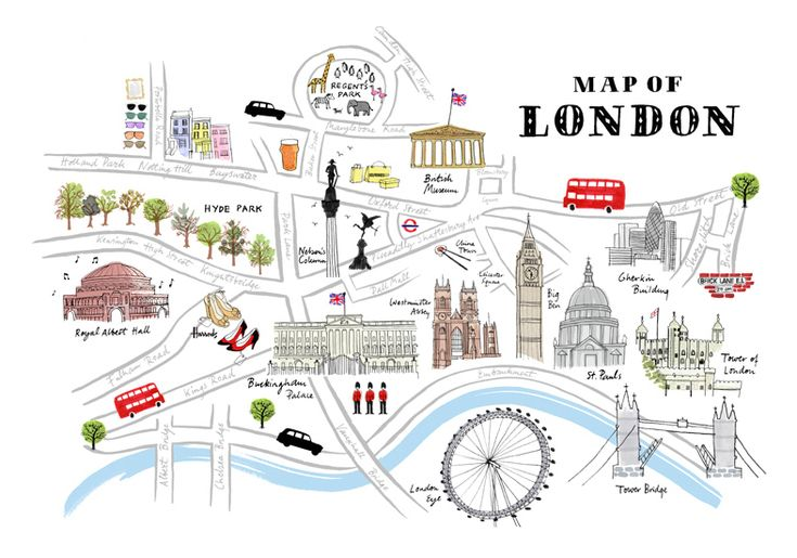 We love this illustrated map of London - can you spot Selfridges?!!