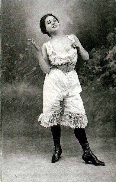 1920's...Nanette's a bad ass in bloomers