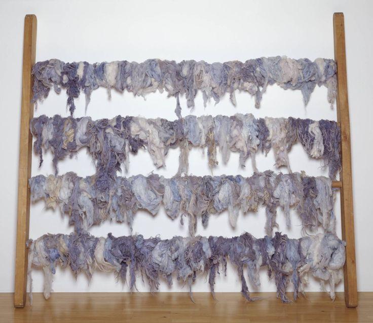 Jannis Kounellis (born 1936) Title Untitled Date 1968 Medium Wood and wool Dimensions displayed: 2500 x 2810 x 450 mm