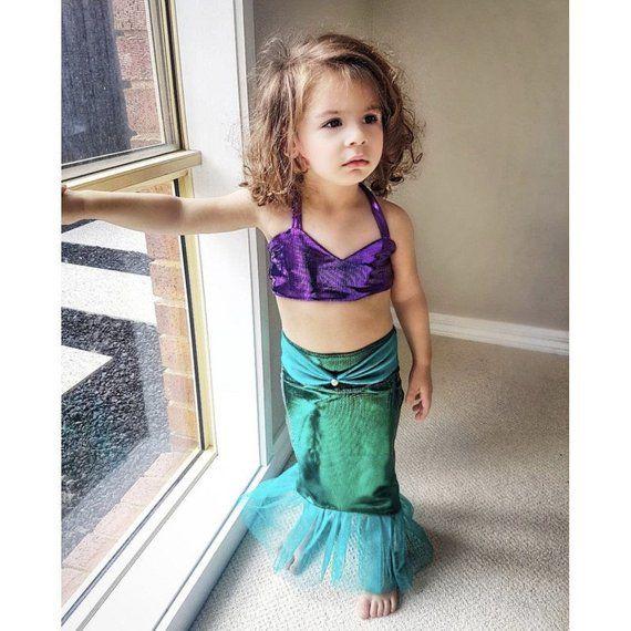 Baby Girl 1st Birthday Dress Outfits Set Girls Little Mermiad Halloween Costume