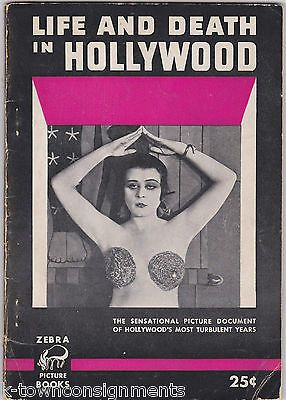 LIFE & DEATH IN HOLLYWOOD JEAN HARLOW ACTRESSES VINTAGE 1950s GOSSIP PHOTO BOOK