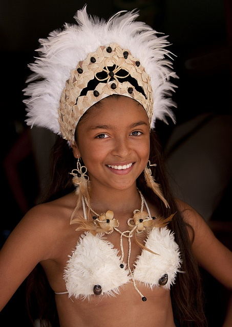 Girl During Carnival Parade, Tapati Festival, Easter Island, Chile