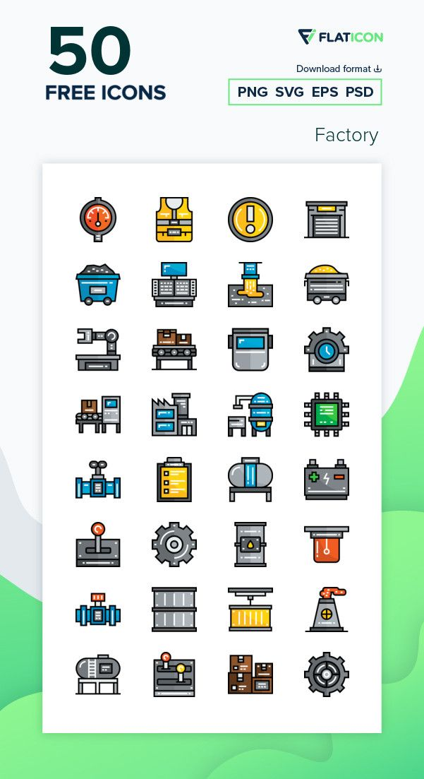 50 Free Vector Icons Of Factory Designed By Freepik Icon Free Icon Packs Vector Free