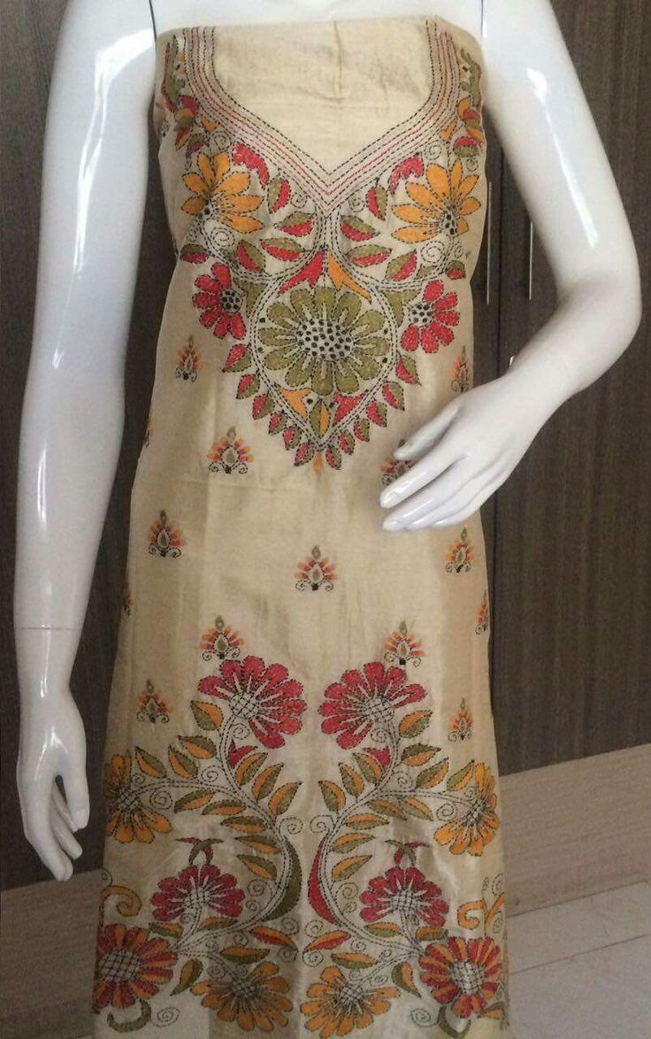 Kantha embroidery on suit