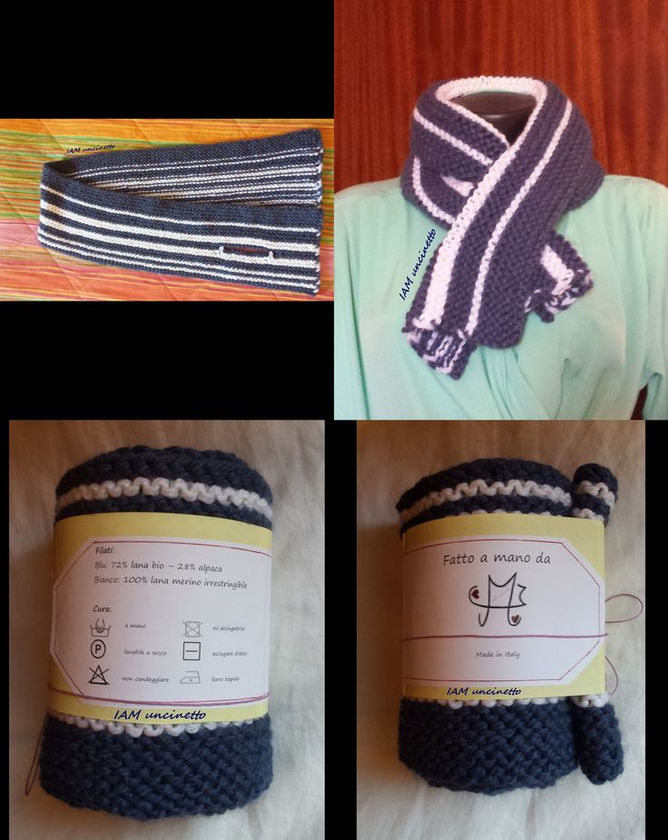 Sciarpa in lana e alpaca lavorata ai ferri a legaccio. Unisex. Knitted wool scarf.  #handmade #madeinitaly