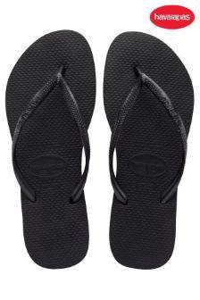 Black Havaianas® Slim Flip Flop