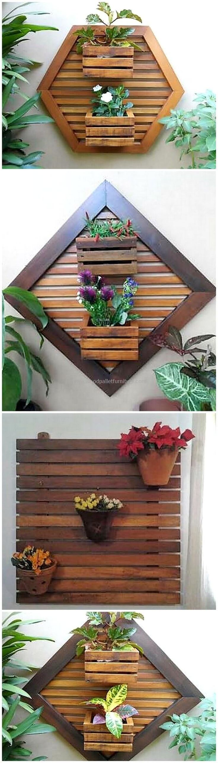 Thispallet wall decor planter art is all finished out with the premium coverage of useless wooden pallets and with a little use of brown paint shade on it.  #pallets #woodpallet #palletfurniture #palletproject #palletideas #recycle #recycledpallet #reclaimed #repurposed #reused #restore #upcycle #diy #palletart #pallet #recycling #upcycling #refurnish #recycled #woodwork #woodworking