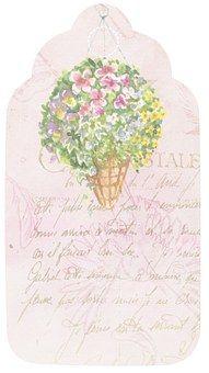 Tag, Flower, Romantic, Scrapbook