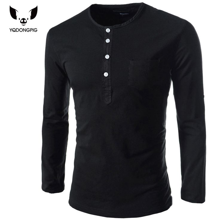 Hot new spring 2017 men's long-sleeved round neck collar Slim solid fashion high quality brand polo shirt M ~ XXL 5511