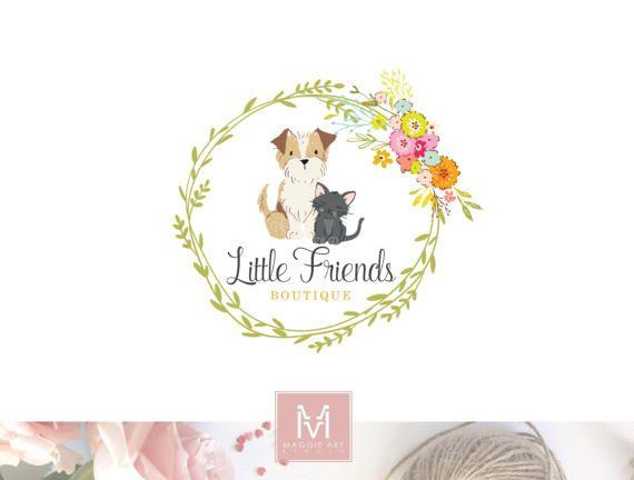 Dog Logo,Floral Logo, Photography Logo,Artisan Logo, Boutique Logo ,Pet Shop Logo, Decor Logo, Animal Logo, Logo,Watermark