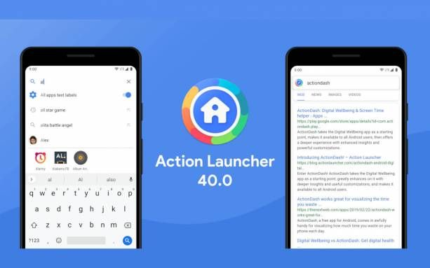 Action Launcher V40 Brings New Search Powers To Android Once Upon A Time Home Screen Widget And Replacements Were All The Rage On An Android Niantic Homescreen