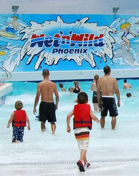 Wet and Wild Water Park in Phoenix AZ...it's no Noah's Ark but it'll do.